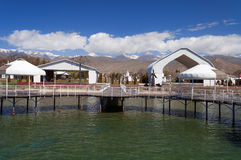 Ruh Ordo cultural complex near Issyk Kul lake Royalty Free Stock Photography