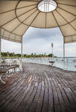 Ruh Ordo pier in Kyrgyzstan Royalty Free Stock Images