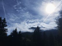 Ruhe auf dem Berg stockfotografie