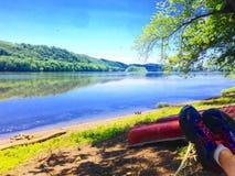 Ruhe auf dem Fluss Lizenzfreies Stockbild