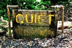 Ruhe - Bäume bei der Arbeit stockfotografie