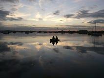 Ruhe in Chichester-Hafen, England, Großbritannien Lizenzfreie Stockfotos