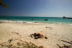 Ruhe an Oistins-Strand, Barbados Lizenzfreies Stockfoto