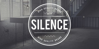 Ruhe-ruhiges ruhiges Ruhe-noch stilles Konzept Lizenzfreies Stockbild