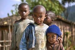 RUHENGERI, RWANDA - SEPTEMBER 7, 2015: Unidentified children. Royalty Free Stock Image