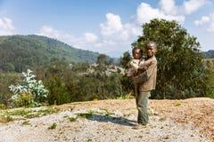 RUHENGERI, RWANDA - SEPTEMBER 7, 2015: Unidentified children. Stock Images