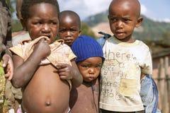 RUHENGERI, RWANDA - SEPTEMBER 7, 2015: Unidentified children. Royalty Free Stock Photo