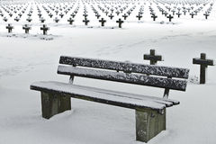 Ruheplatz im Schnee Lizenzfreie Stockfotos