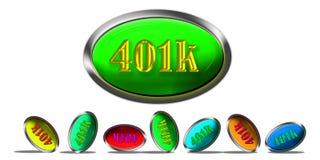 Ruhestand 401K. Lizenzfreie Stockfotos