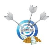 Ruhestand roth Ziel-Geldpension Stockfoto