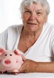 Ruhestand und finansial Probleme des Rentners lizenzfreie stockfotografie