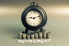 Ruhestands-Geld und Zeit Stockfoto