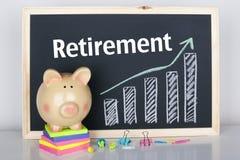 Ruhestandseinsparungen stockfoto