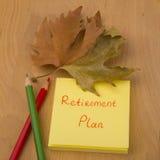 Ruhestandsplan Stockfoto