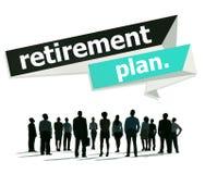 Ruhestandsplan-Ruhestandsvorsorge-Pensions-Konzept Lizenzfreie Stockbilder