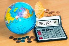 Ruhestandsvorsorge Stockbild
