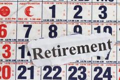 Ruhestandwort stockbilder