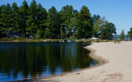 Ruhewasser-Ruheruhe der Lagune private abgeschlossen Lizenzfreie Stockfotos