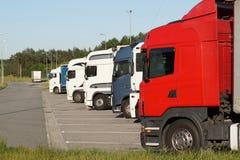 Ruhezone für LKW-Fahrer lizenzfreie stockbilder