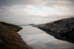 Ruhig ein ruhiger See stockfotografie