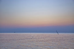 Ruhig vom Meer stockfotos