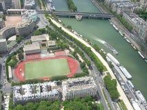Ruhige Abbildung von Sene Fluss in Paris Lizenzfreies Stockbild