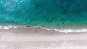 Ruhige Ansicht der pazifischen Küstenlinie stock footage