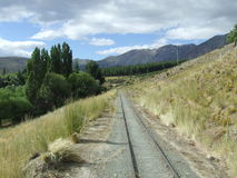 Ruhige Bahnstrecke Stockbilder
