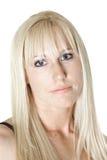 Ruhige blonde Frau Lizenzfreie Stockfotos