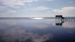 Ruhige Flussansicht in Florida lizenzfreies stockfoto