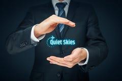 Ruhige Himmel durch TSA Stockbilder