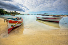 Ruhige Küstenansicht, Mauritius Stockfoto