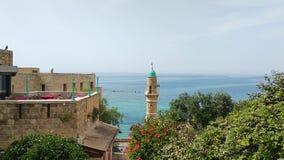 Ruhige Landschaft von Mittelmeer in Tel Aviv, Israel stockbild
