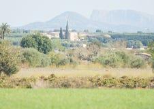 Ruhige Landschaftsszene auf Mallorca, Spanien Stockbilder
