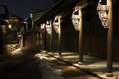 Ruhige Nacht in einer alten Stadt Lizenzfreie Stockfotos