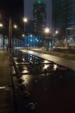 Ruhige Nacht im Stadtzentrum gelegen Lizenzfreies Stockfoto