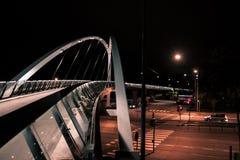 Ruhige Nachtstraßen in Helsinki lizenzfreies stockbild