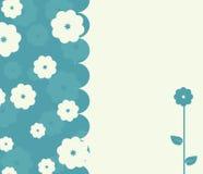Ruhige Retro- Karte mit Blumen Lizenzfreie Stockfotografie