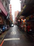 ruhige Straße in Taipeh Stockfotos