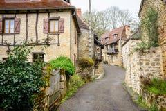 Ruhige Straßen von carennac, Frankreich lizenzfreies stockfoto