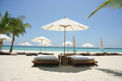 Ruhige Strandzeit Stockbild