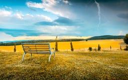 Ruhige Szene vor einem Sturm Stockfotos