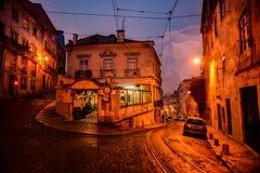 Ruhige u-Drehung in der alten Stadt stockfotografie