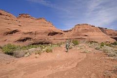 Ruhige Wanderung in der Wüste Lizenzfreie Stockbilder