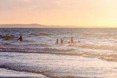 Ruhige Zeit am Strand stockbild