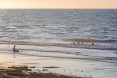 Ruhige Zeit am Strand lizenzfreies stockfoto