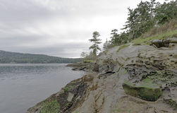 Ruhiger Bell-Hauspark in Galiano-Insel Kanada Stockbild