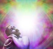 Ruhiger Buddha, der im leicht- Rahmen sich aalt lizenzfreies stockbild