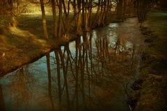 Ruhiger Flussstrom Lizenzfreies Stockfoto