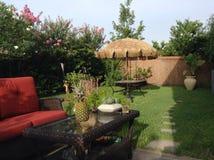 Ruhiger Garten Stockbild
